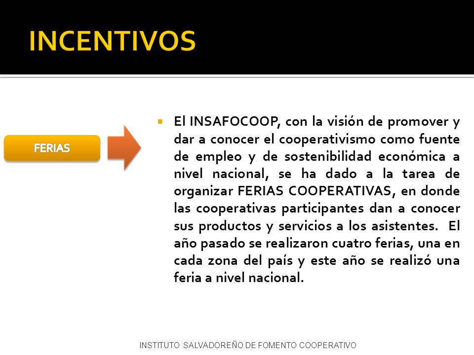 El INSAFOCOOP, con la visión de promover y dar a conocer el cooperativismo como fuente de empleo y de sostenibilidad económica a nivel nacional, se ha