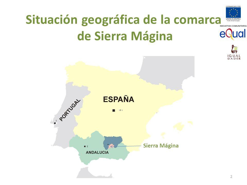 Situación geográfica de la comarca de Sierra Mágina Sierra Mágina 2