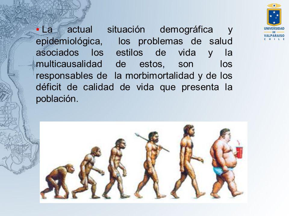 La actual situación demográfica y epidemiológica, los problemas de salud asociados los estilos de vida y la multicausalidad de estos, son los responsa