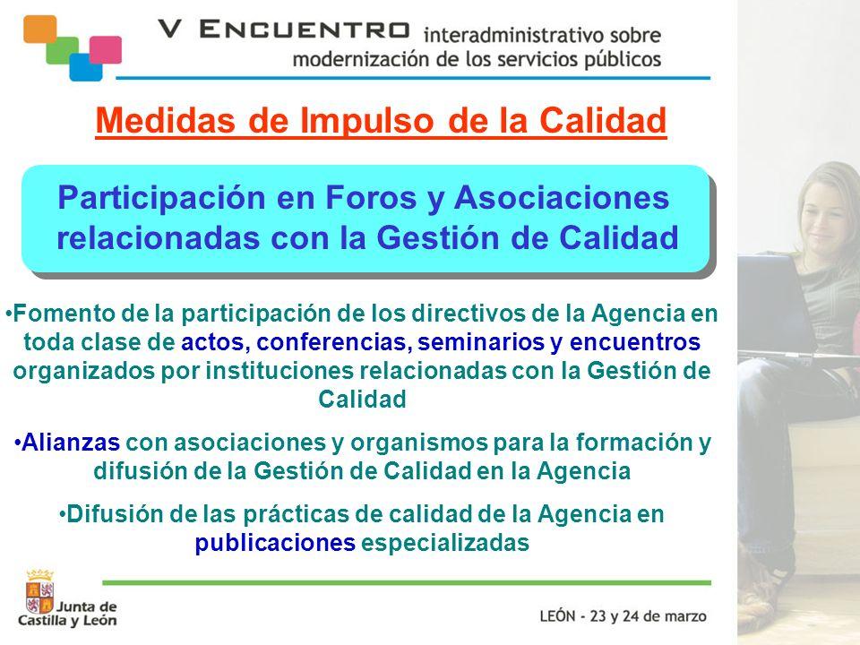 Fomento de la participación de los directivos de la Agencia en toda clase de actos, conferencias, seminarios y encuentros organizados por institucione