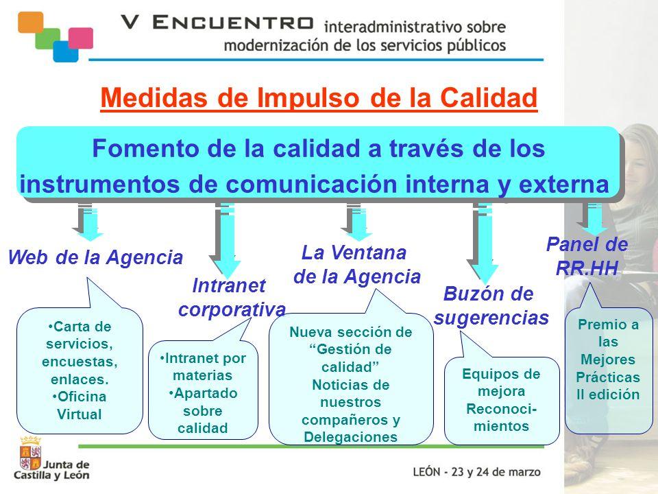 Fomento de la calidad a través de los instrumentos de comunicación interna y externa Fomento de la calidad a través de los instrumentos de comunicació