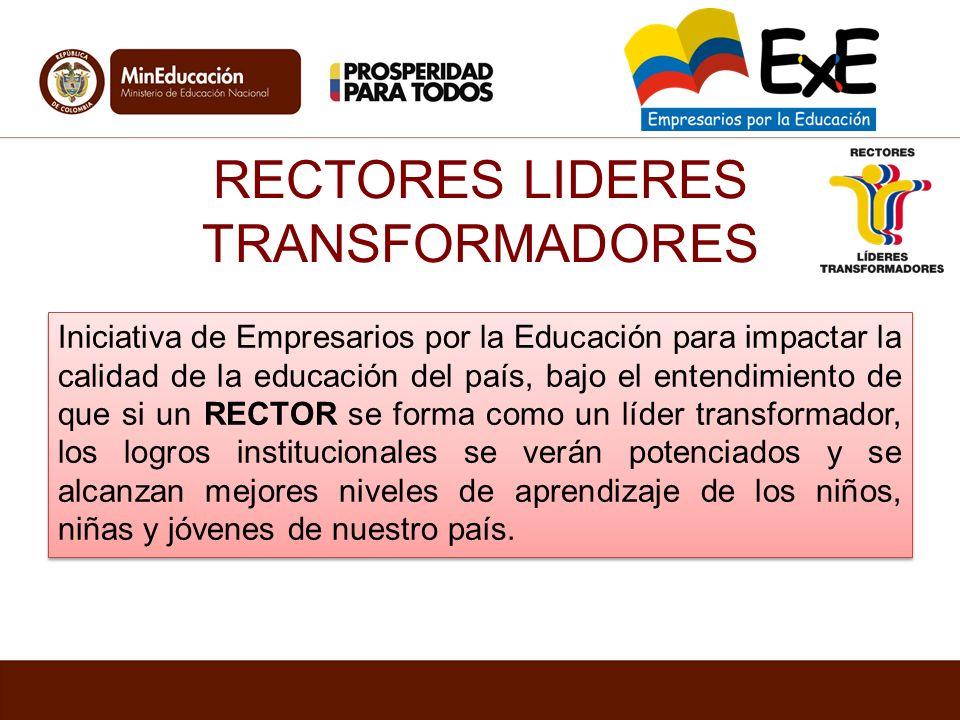 RECTORES LIDERES TRANSFORMADORES Iniciativa de Empresarios por la Educación para impactar la calidad de la educación del país, bajo el entendimiento d