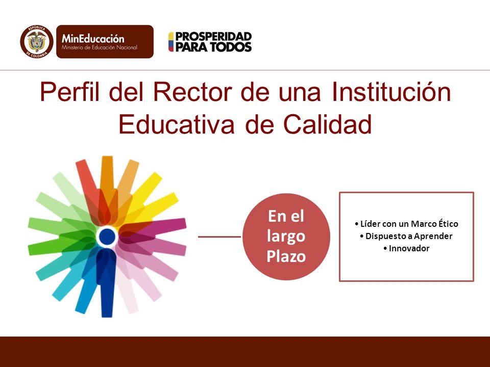 Perfil del Rector de una Institución Educativa de Calidad En el largo Plazo Líder con un Marco Ético Dispuesto a Aprender Innovador
