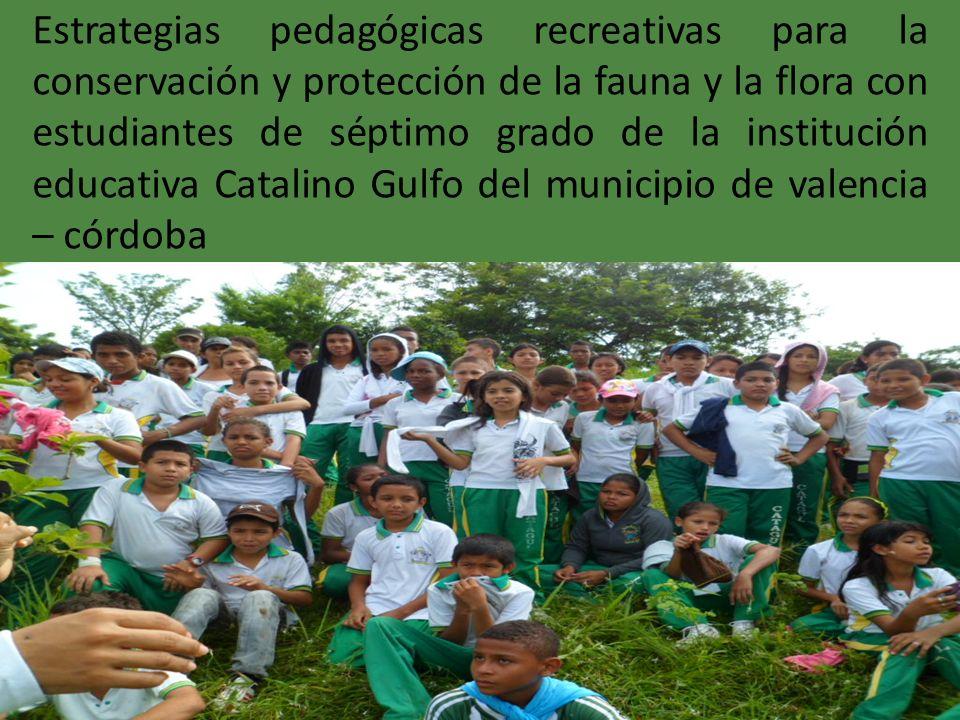 Estrategias pedagógicas recreativas para la conservación y protección de la fauna y la flora con estudiantes de séptimo grado de la institución educat