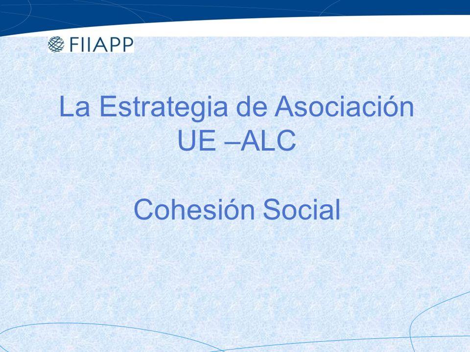 Cohesión social en Europa, como inspirador de la política pública.