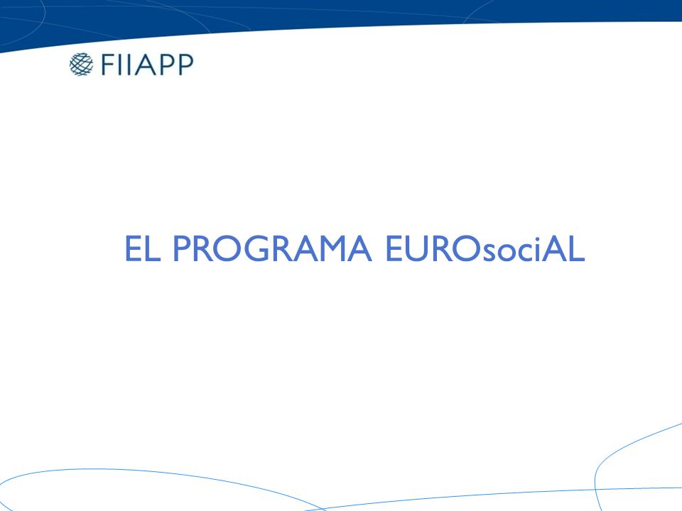 Programa Regional de Asistencia Técnica Pública para la Cohesión Social en América Latina ORIGEN.