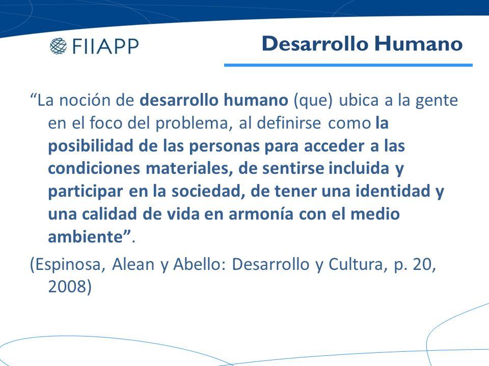 Evolución del concepto de desarrollo y consecuentemente de los objetivos, métodos y herramientas de la cooperación al desarrollo.