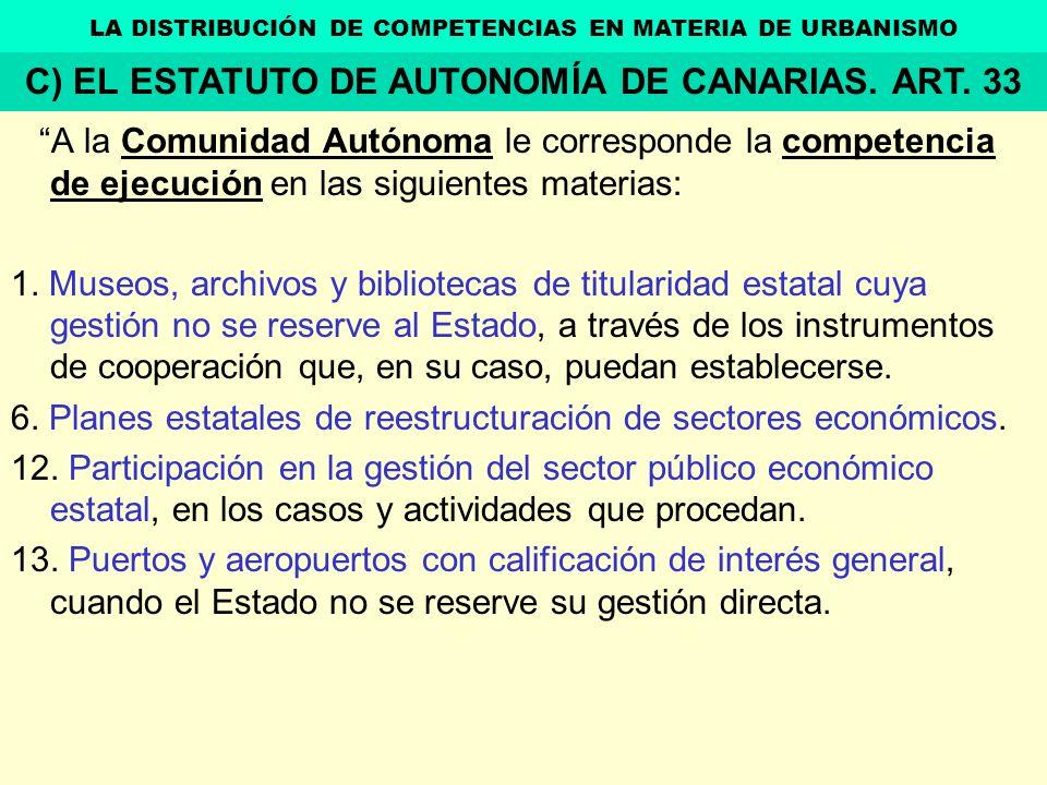 A la Comunidad Autónoma le corresponde la competencia de ejecución en las siguientes materias: 1. Museos, archivos y bibliotecas de titularidad estata