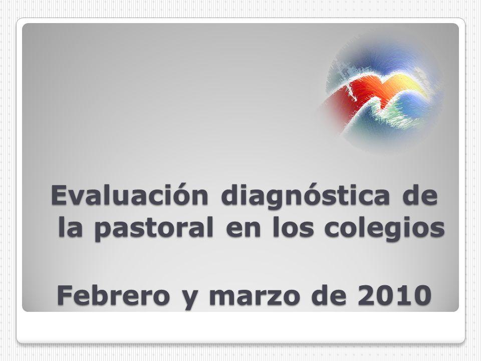 Evaluación diagnóstica de la pastoral en los colegios Febrero y marzo de 2010