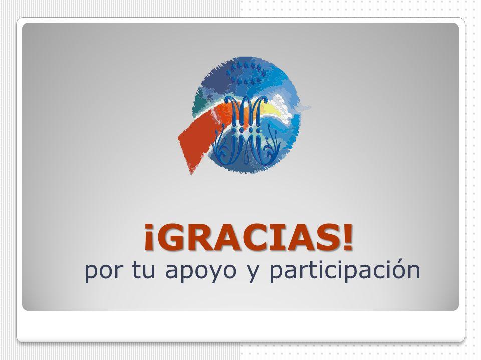 por tu apoyo y participación ¡GRACIAS!