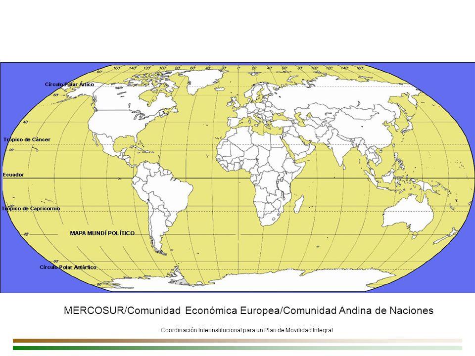 Coordinación Interinstitucional para un Plan de Movilidad Integral MERCOSUR/Comunidad Económica Europea/Comunidad Andina de Naciones