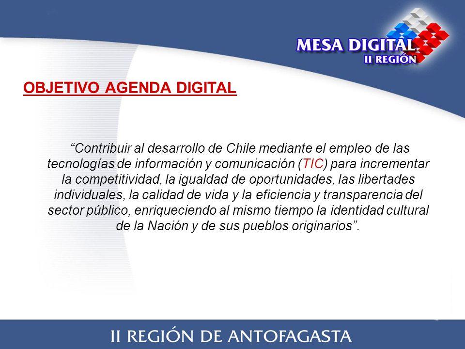 Contribuir al desarrollo de Chile mediante el empleo de las tecnologías de información y comunicación (TIC) para incrementar la competitividad, la igualdad de oportunidades, las libertades individuales, la calidad de vida y la eficiencia y transparencia del sector público, enriqueciendo al mismo tiempo la identidad cultural de la Nación y de sus pueblos originarios.