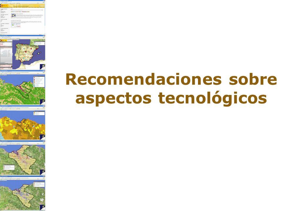 Recomendaciones sobre aspectos tecnológicos