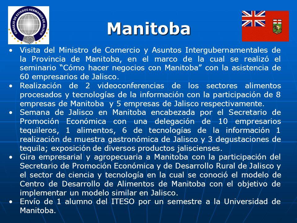 Visita del Ministro de Comercio y Asuntos Intergubernamentales de la Provincia de Manitoba, en el marco de la cual se realizó el seminario Cómo hacer negocios con Manitoba con la asistencia de 60 empresarios de Jalisco.