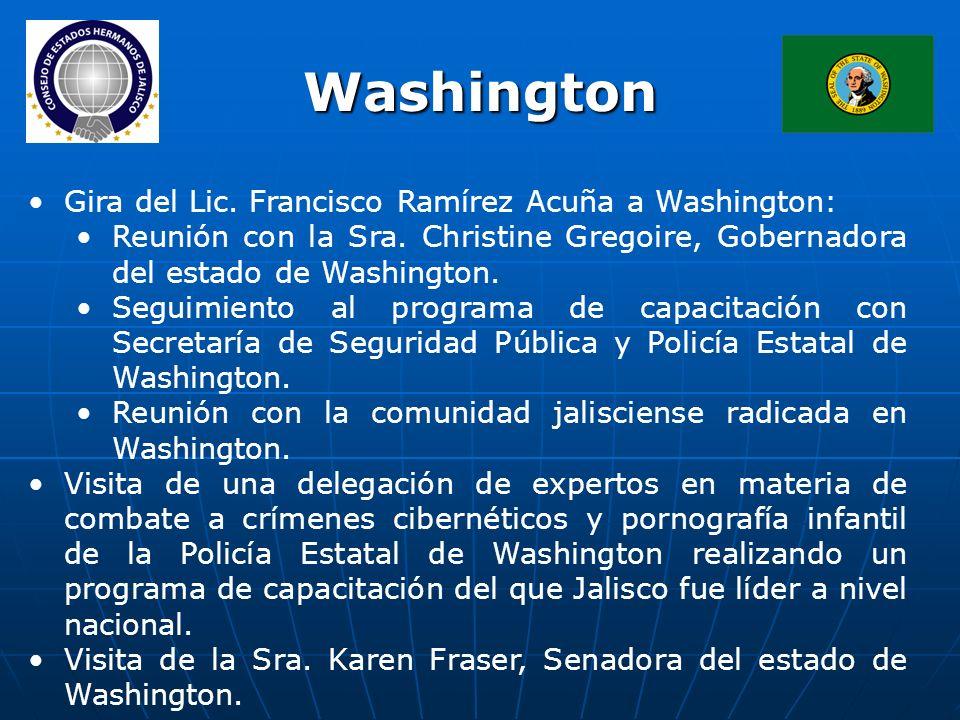 Gira del Lic. Francisco Ramírez Acuña a Washington: Reunión con la Sra.