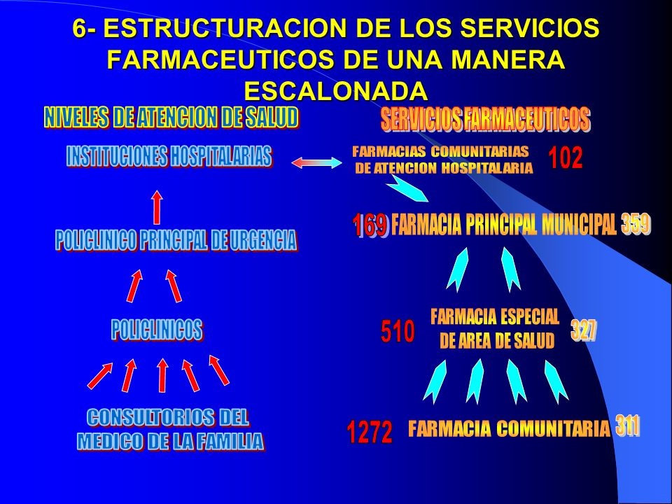 6- ESTRUCTURACION DE LOS SERVICIOS FARMACEUTICOS DE UNA MANERA ESCALONADA