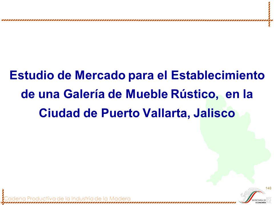 Cadena Productiva de la Industria de la Madera 148 Estudio de Mercado para el Establecimiento de una Galería de Mueble Rústico, en la Ciudad de Puerto