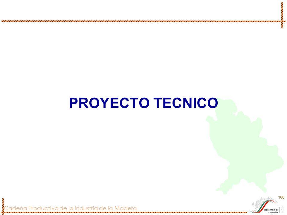 Cadena Productiva de la Industria de la Madera 166 PROYECTO TECNICO