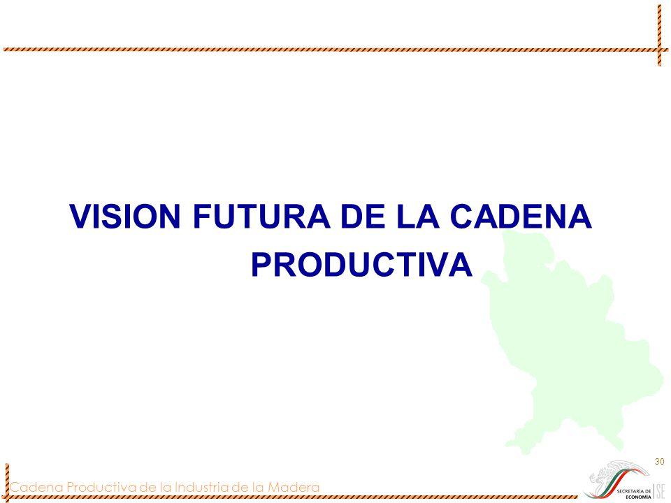 Cadena Productiva de la Industria de la Madera 30 VISION FUTURA DE LA CADENA PRODUCTIVA