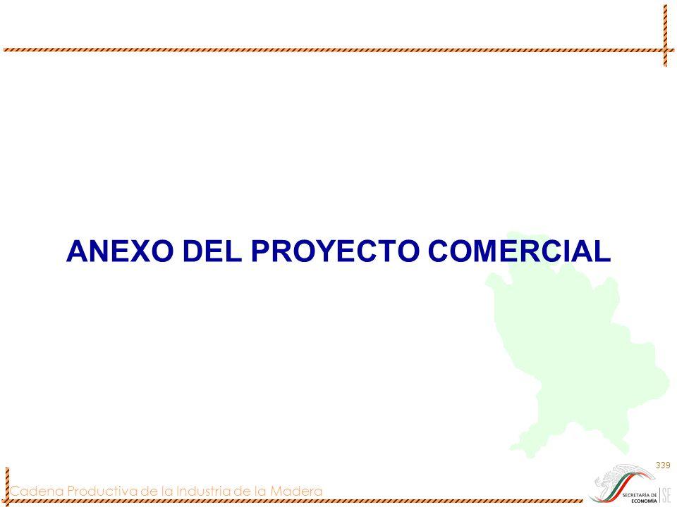 Cadena Productiva de la Industria de la Madera 339 ANEXO DEL PROYECTO COMERCIAL