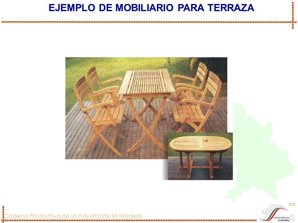Cadena Productiva de la Industria de la Madera 375 EJEMPLO DE MOBILIARIO PARA TERRAZA