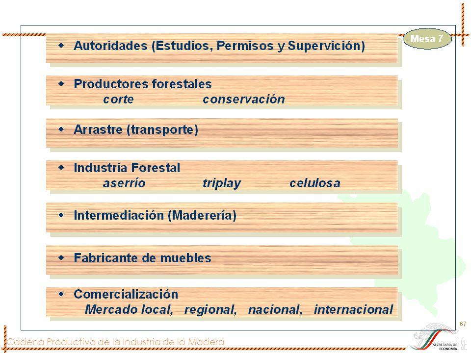 Cadena Productiva de la Industria de la Madera 67