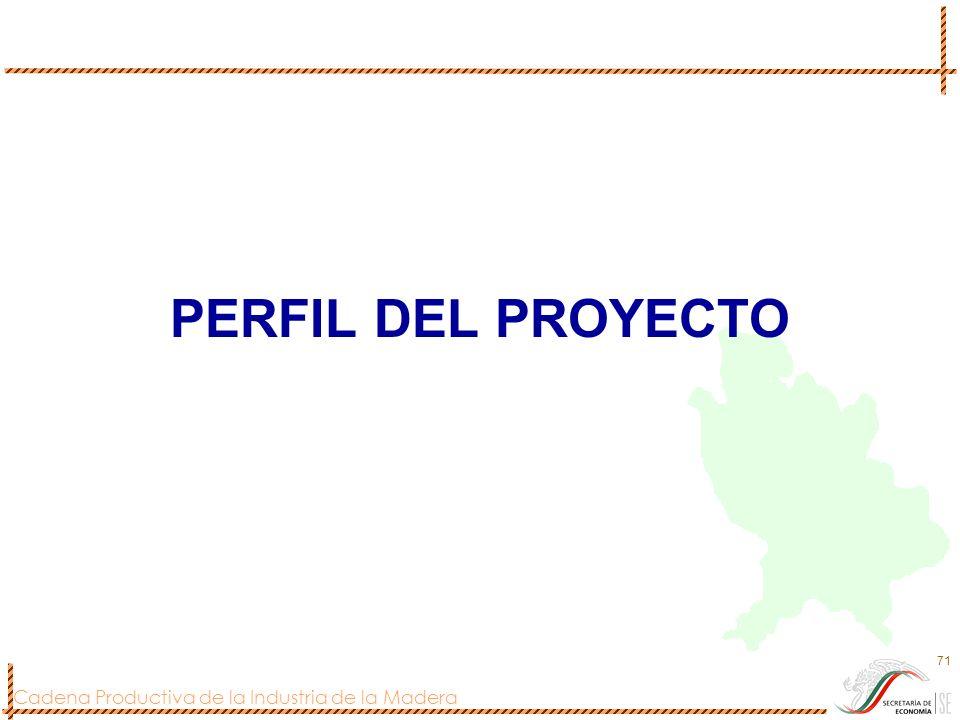 Cadena Productiva de la Industria de la Madera 71 PERFIL DEL PROYECTO