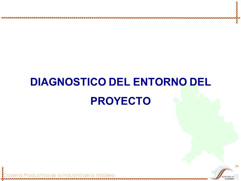 Cadena Productiva de la Industria de la Madera 84 DIAGNOSTICO DEL ENTORNO DEL PROYECTO