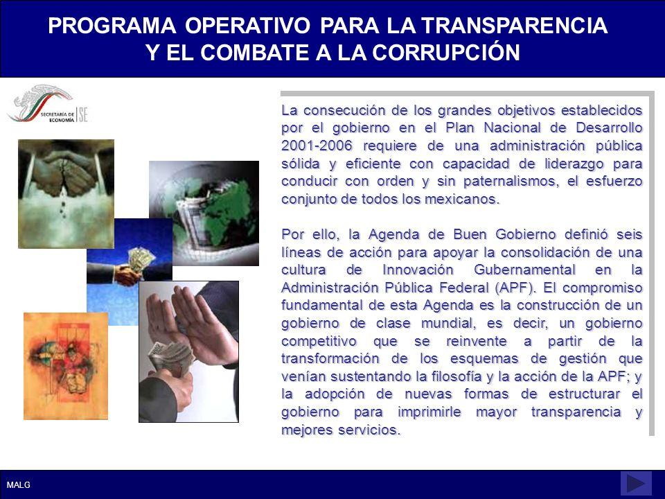 La consecución de los grandes objetivos establecidos por el gobierno en el Plan Nacional de Desarrollo 2001-2006 requiere de una administración públic