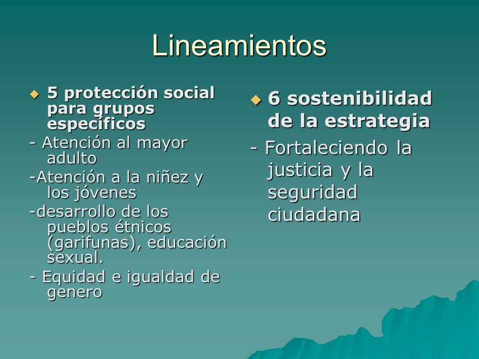 Lineamientos 5 protección social para grupos específicos 5 protección social para grupos específicos - Atención al mayor adulto -Atención a la niñez y