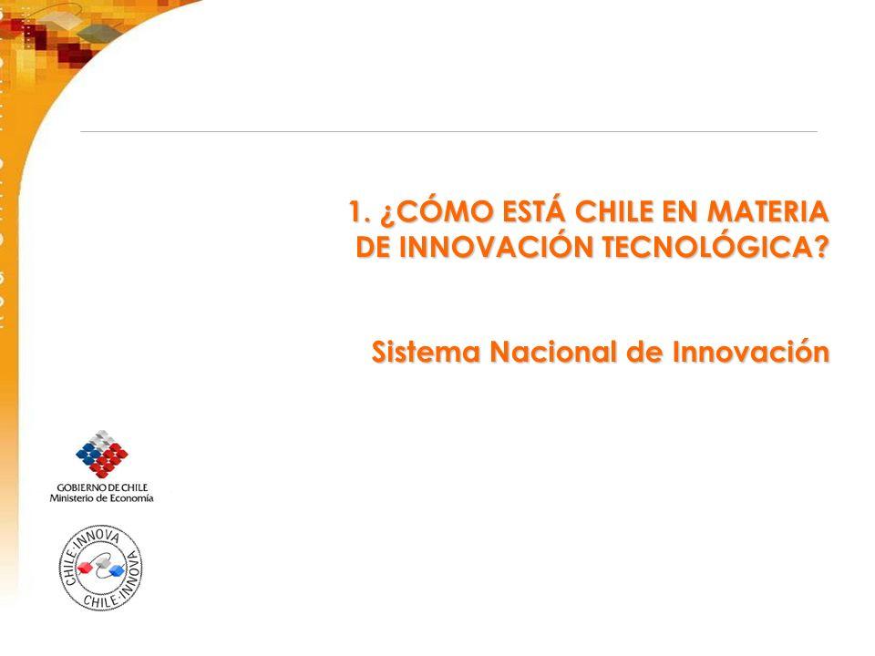 1. ¿CÓMO ESTÁ CHILE EN MATERIA DE INNOVACIÓN TECNOLÓGICA? Sistema Nacional de Innovación