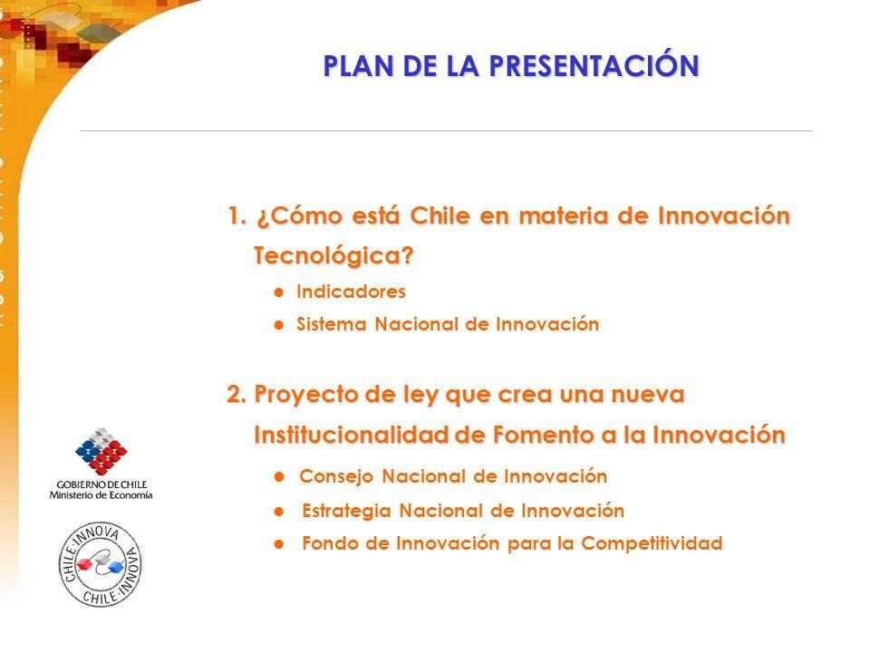 PLAN DE LA PRESENTACIÓN 1. ¿Cómo está Chile en materia de Innovación Tecnológica.
