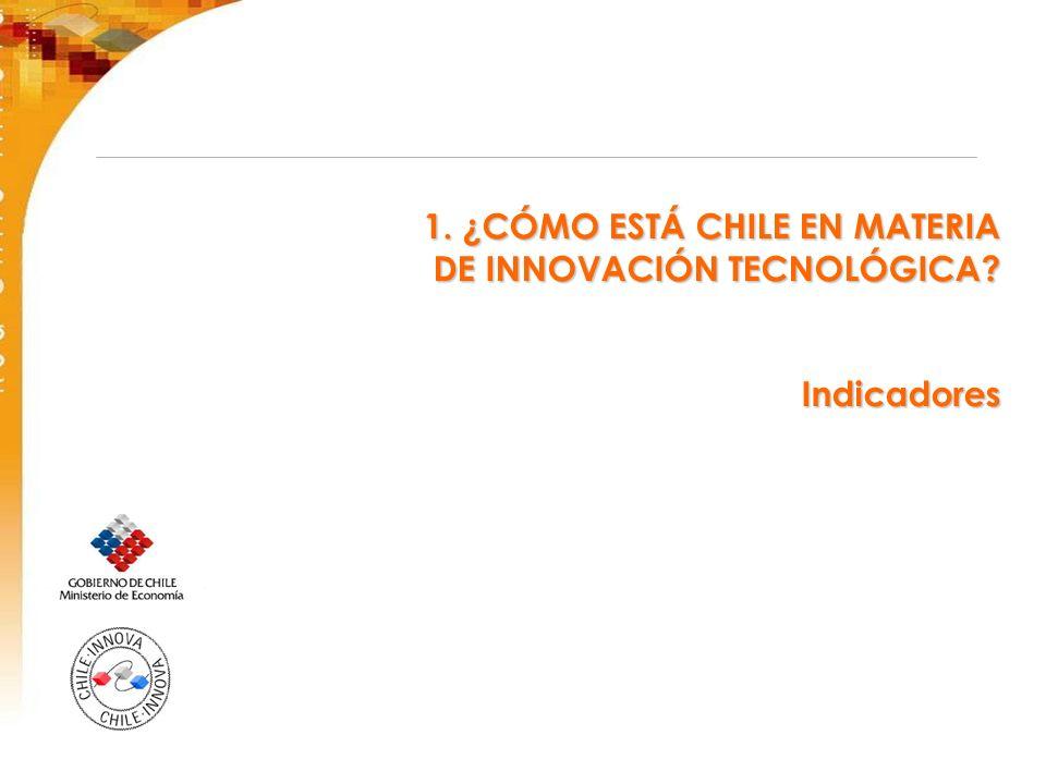 1. ¿CÓMO ESTÁ CHILE EN MATERIA DE INNOVACIÓN TECNOLÓGICA? Indicadores