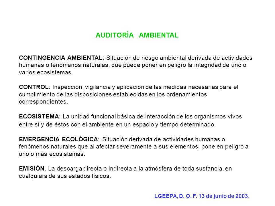 AUDITORÍA AMBIENTAL Protocolos de realización.