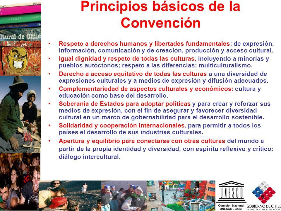 6 Principios básicos de la Convención Respeto a derechos humanos y libertades fundamentales: de expresión, información, comunicación y de creación, pr