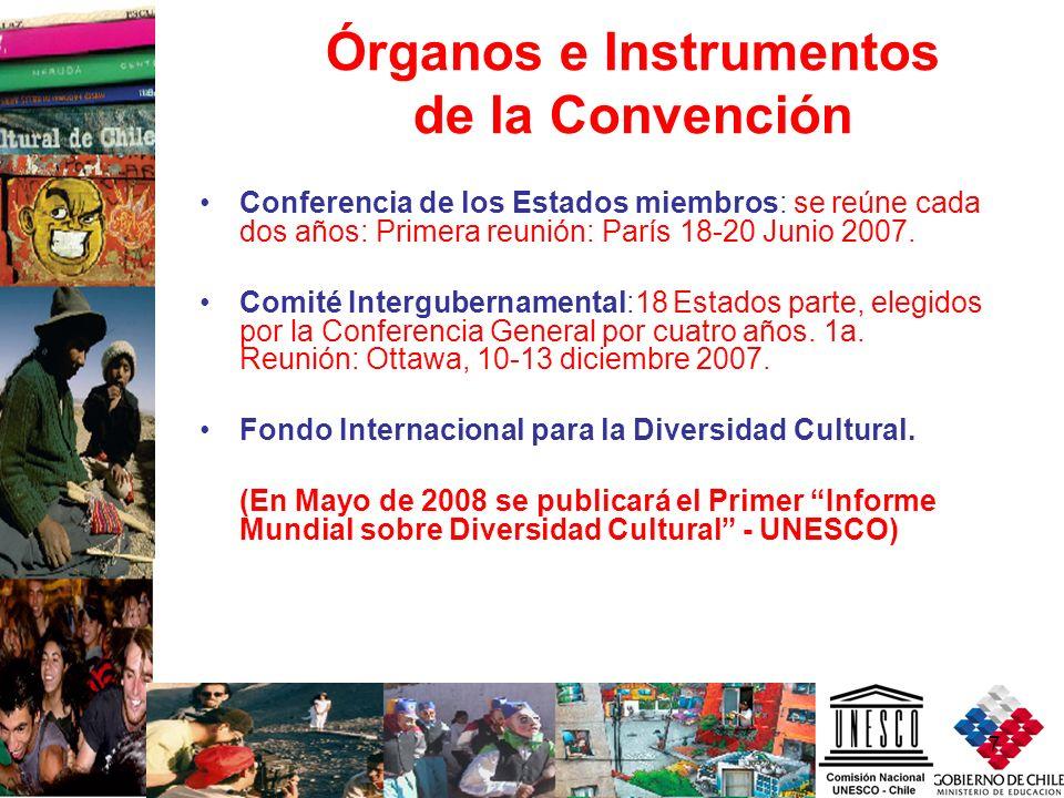 7 Órganos e Instrumentos de la Convención Conferencia de los Estados miembros: se reúne cada dos años: Primera reunión: París 18-20 Junio 2007. Comité