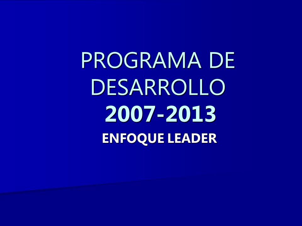 PROGRAMA DE DESARROLLO 2007-2013 ENFOQUE LEADER