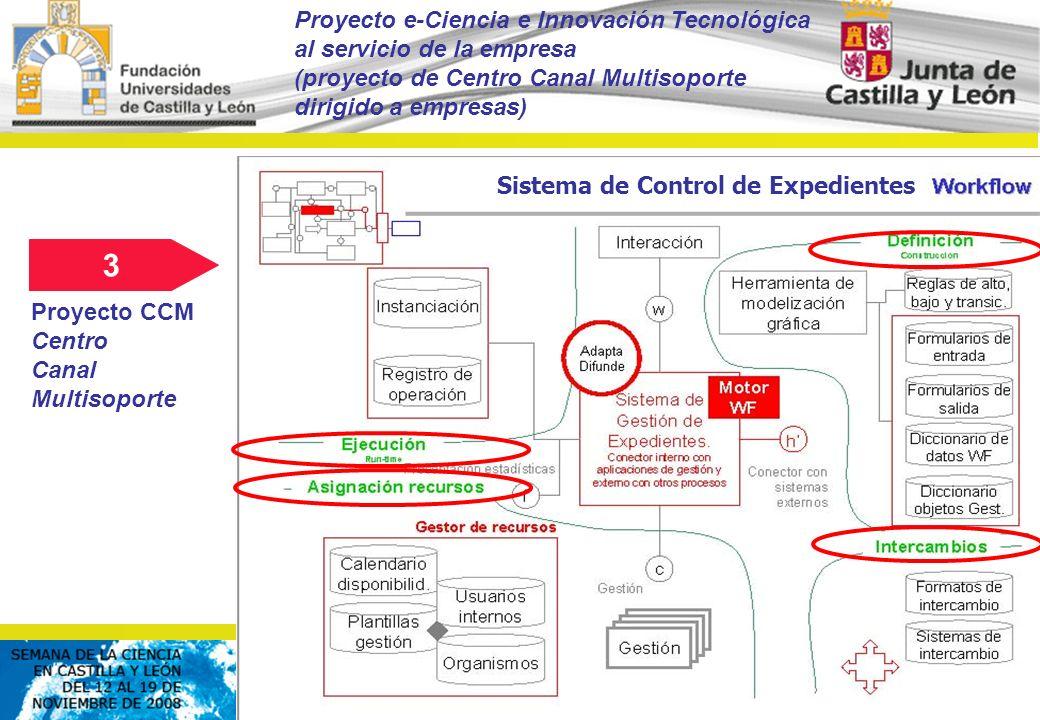 © FCSCCYL. Dirección Científica (2008) Sistema de Control de Expedientes 3 Proyecto e-Ciencia e Innovación Tecnológica al servicio de la empresa (proy