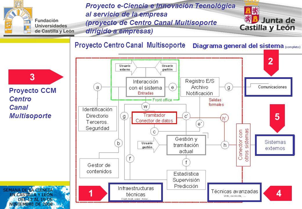 © FCSCCYL. Dirección Científica (2008) 14 2 5 3 Proyecto CCM Centro Canal Multisoporte Proyecto Centro Canal Multisoporte Proyecto e-Ciencia e Innovac