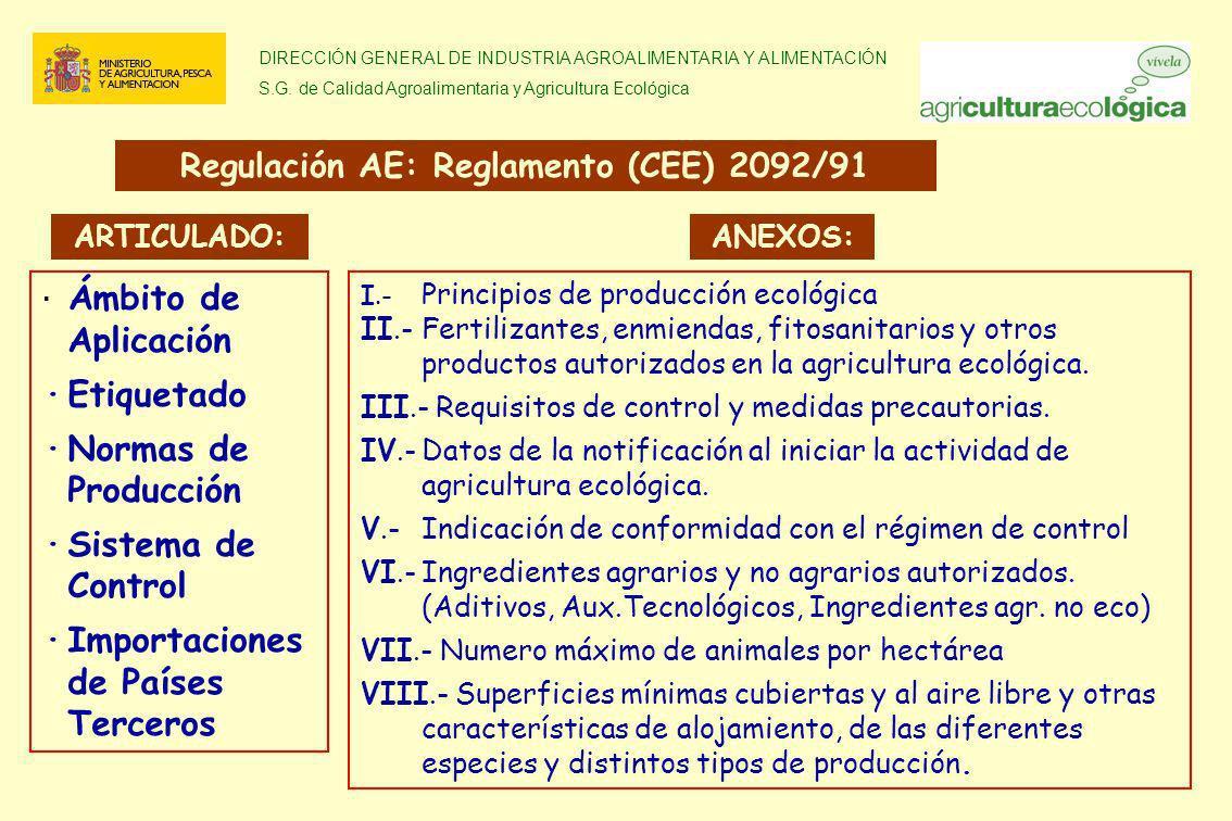 DIRECCIÓN GENERAL DE INDUSTRIA AGROALIMENTARIA Y ALIMENTACIÓN S.G. de Calidad Agroalimentaria y Agricultura Ecológica · Ámbito de Aplicación ·Etiqueta