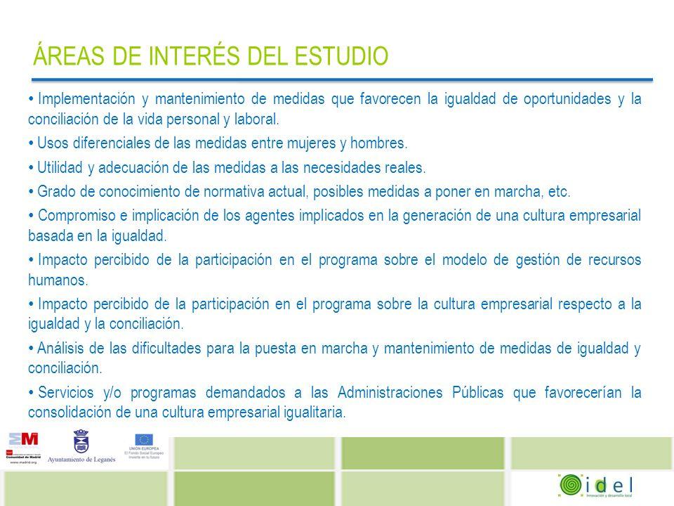 PRINCIPALES RESULTADOS AGENTES SOCIALES Agentes implicados en la Conciliación EMPRESAS Y ADMINISTRACIONES PÚBLICAS Ambas Empresas