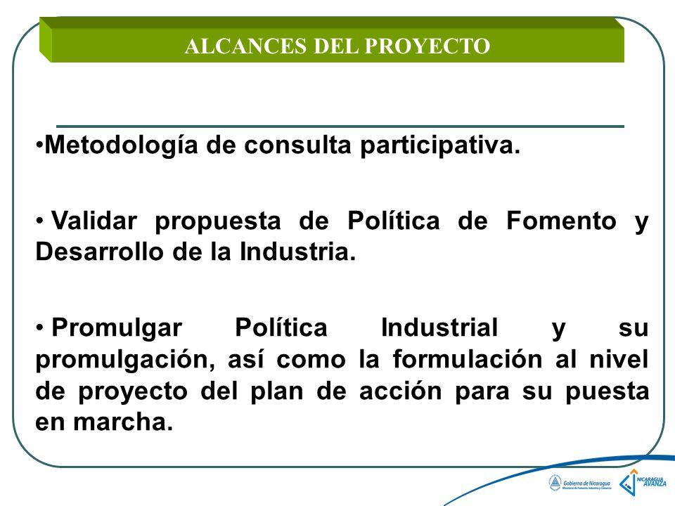 Metodología de consulta participativa.