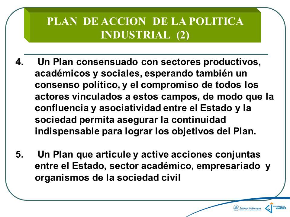PLAN DE ACCION DE LA POLITICA INDUSTRIAL (2) 4.