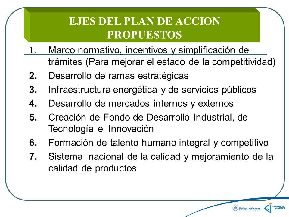 EJES DEL PLAN DE ACCION PROPUESTOS 1.