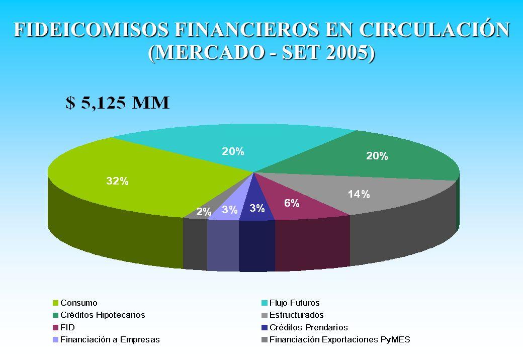 FIDEICOMISOS FINANCIEROS EN CIRCULACIÓN (MERCADO - SET 2005)