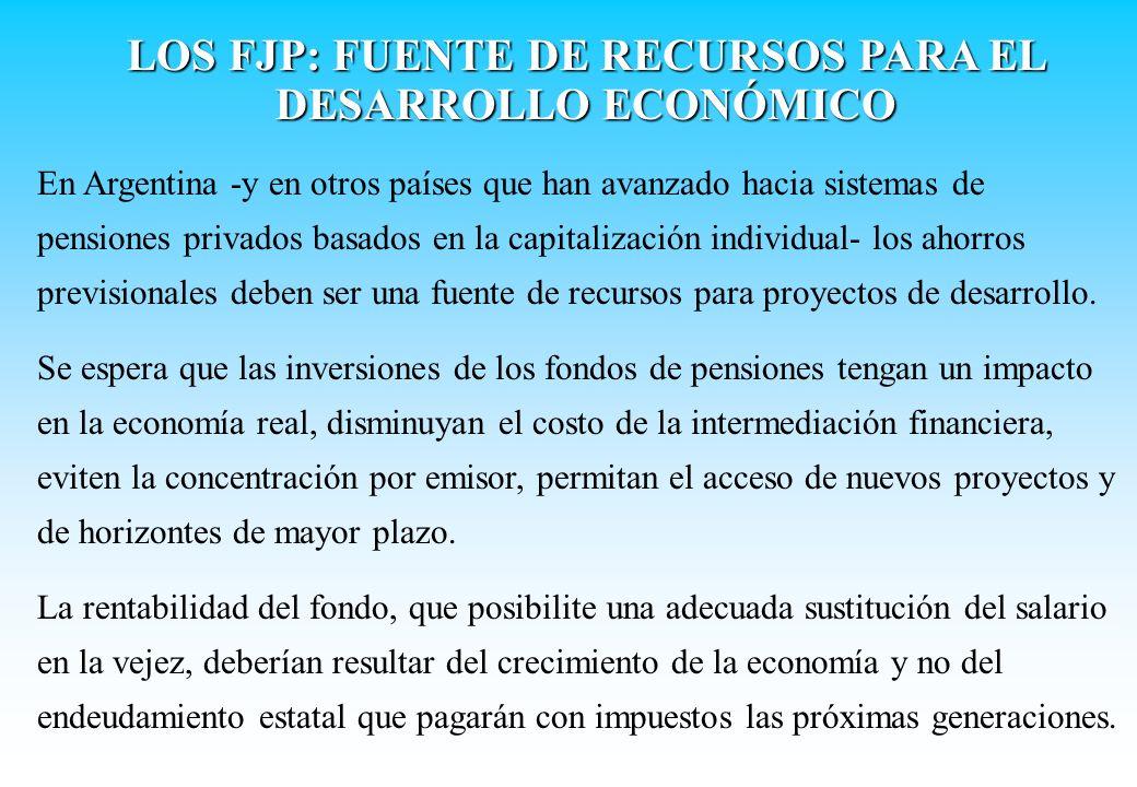 En Argentina -y en otros países que han avanzado hacia sistemas de pensiones privados basados en la capitalización individual- los ahorros previsional