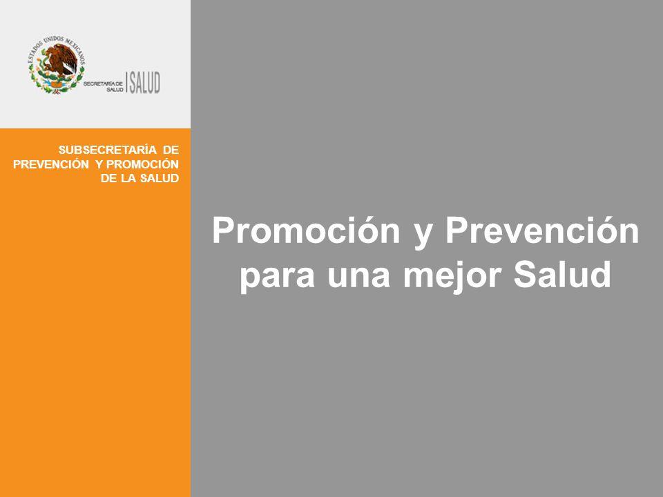 SUBSECRETARÍA DE PREVENCIÓN Y PROMOCIÓN DE LA SALUD Promoción y Prevención para una mejor Salud