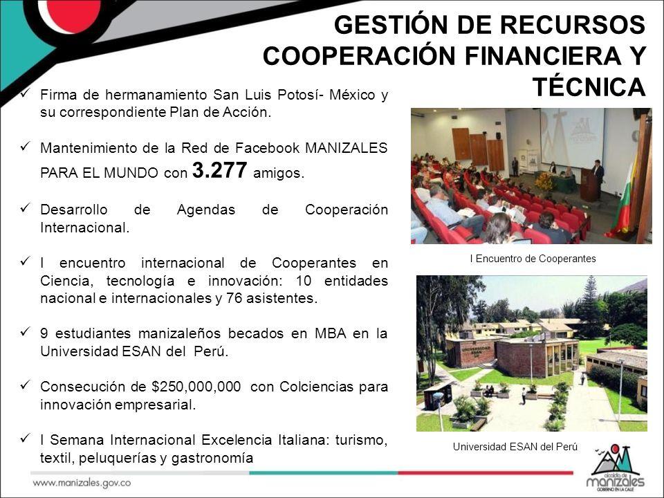 FORTALECIMIENTO EMPRESARIAL PARA LA APERTURA DE MERCADOS INTERNACIONALES 125 empresas registradas en la plataforma de intercambio comercial MANIZALES MARKETPLACE con 630 productos de exportación en la plataforma.