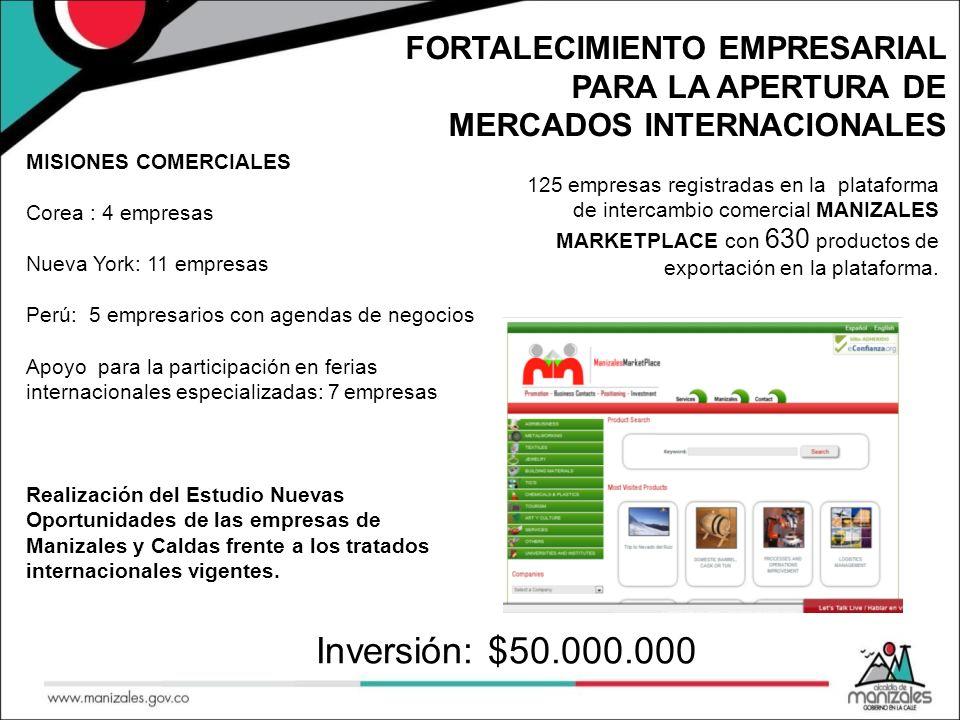 FORTALECIMIENTO DEL SECTOR COMERCIAL Plataforma ofertasmanizales.com 12.000 comerciantes insritos.
