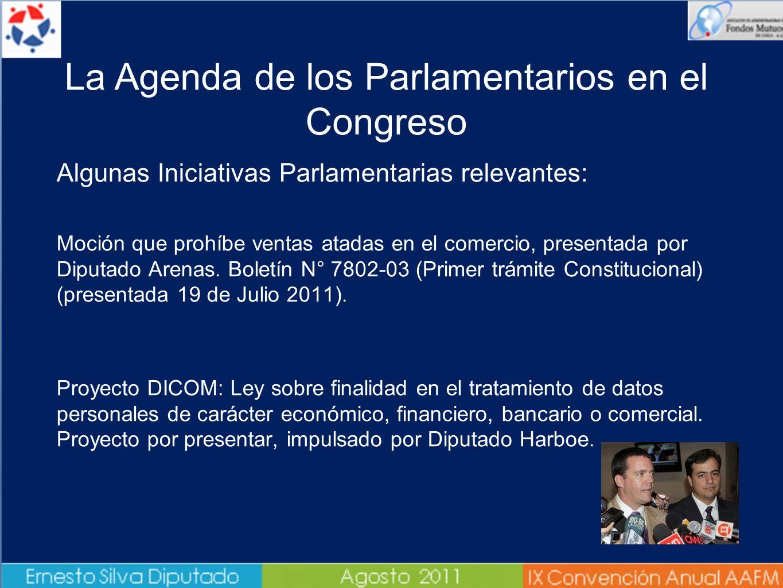 Algunas Iniciativas Parlamentarias relevantes: - Moción que prohíbe ventas atadas en el comercio, presentada por Diputado Arenas. Boletín N° 7802-03 (